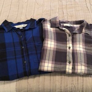 🌻 Old Navy boyfriend flannel bundle
